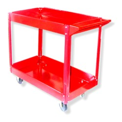 2-Shelf Red Service Cart