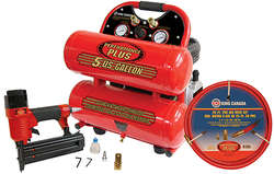5Gal Twin Tank Air Compressor Combo Kit