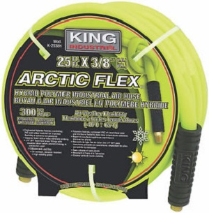 "Hybrid Polymer industrial 3/8""x25FT, 50FT or 100FT air hose"