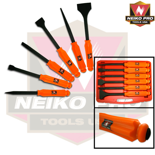 6PC HEAVY DUTY PUNCH & CHISEL EXTRA H/DUT