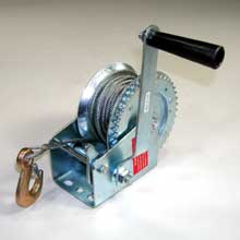 1200LB HAND WINCH WITH STEEL CABLE