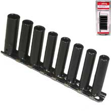 "9PC 1/4"" DR. DEEP PNUEMATIC AIR IMP. SOCKET (SAE)"