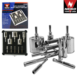 10pc Diamond Dust Hole Saw Set