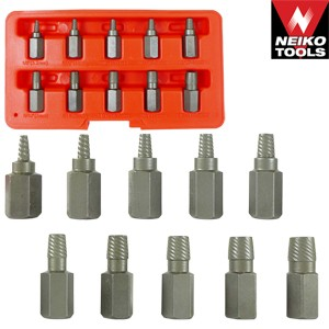 10pc Multi-Spline Screw Extractor Set