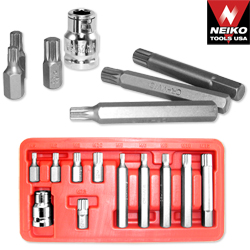 11PC 12 POIONT SPLINE SOCKET SET