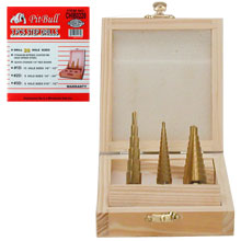 3PC STEP DRILL BIT