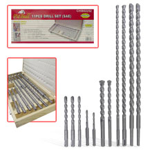 11PC SDS DRILL BIT SET SAE (8/C)