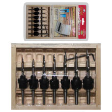 22PC COUNTERSINK BIT