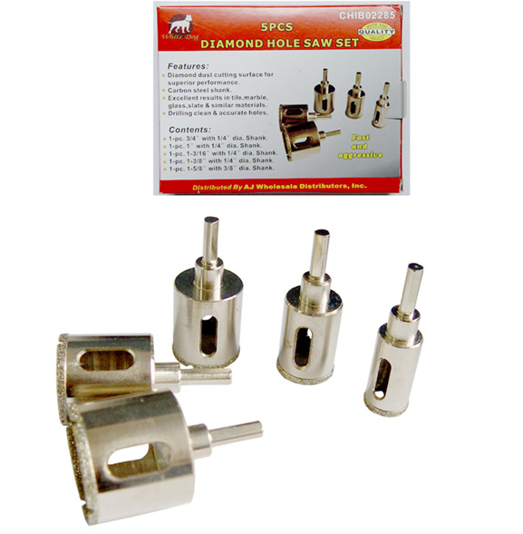 5 PCS DIAMOND HOLE SAW SET