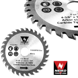 "4-3/8"" 30T CARBIDE SAW BLADE"