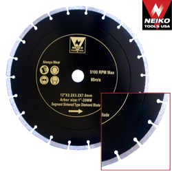 "12"" DIAMOND SEGMENT SINTERED BLADE DRY"