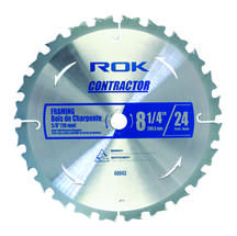 "8-1/4"" 24T or 40T Contractor Saw Blades Framing"
