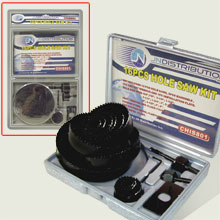 16 PCS HOLE SAW KIT D/B