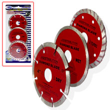 "3PC 4"" DIAMOND BLADE WET/DRY/TURBO"