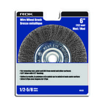 "Wire Wheel Brush 6"" Med"
