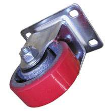 "3""X1-1/4"" INDUSTRIAL HEAVY DUTY STATION CASTER RED"