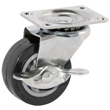 "2"" LIGHT DUTY PU/B SWIVEL CASTERS W/BREAK"
