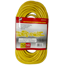 12/3X25FT/ 50FT/100FT UL EXTENSION CORD