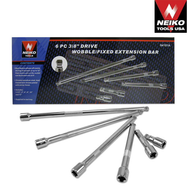BAR EXT FIXED/WOBBLE 6 PC 3/8""