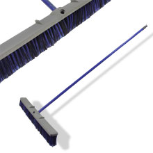 "24"" PUSH BROOM W/59"" STEEL HDL, PLAST BRISTLE"