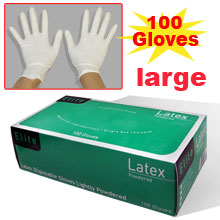 LATEX GLOVES FROM SMALL TO X-LARGE