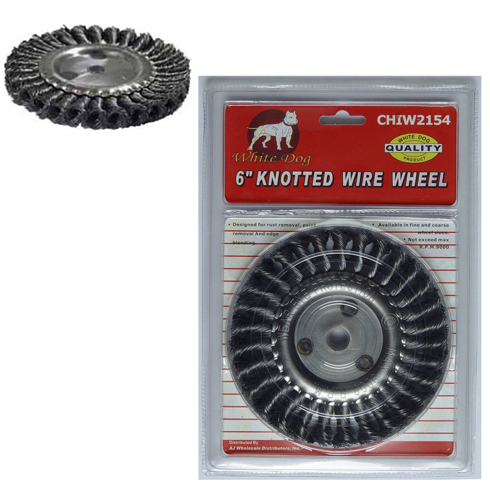 "6"" KNOTTED WIRE WHEEL"
