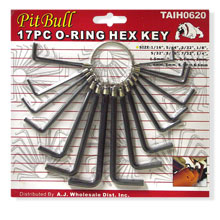 17PC O RING HEX KEY 030S
