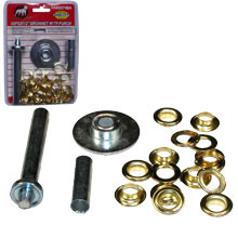 60PC X1/2 GROMMET W/PUNCH SET