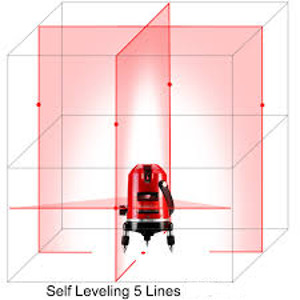 5 LINE AUTO LEVELING LASER LEVEL - Click Image to Close