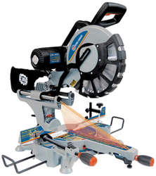 "12"" Sliding Dual Compound Miter Saw with Twin Laser"