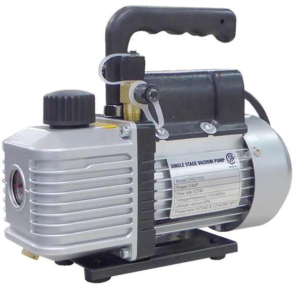 3CFM 1/4HP SINGLE STAGE VACUUM PUMP