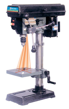 "10"" DRILL PRESS WITH DUAL LASER"