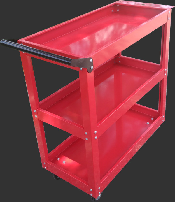 2 or 3 Shelf Red Service Cart
