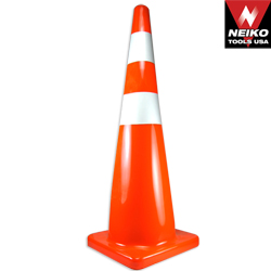 Safety Cone with Reflective Strips