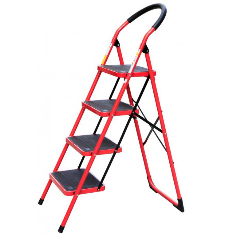 4 STEPS RED LADDER