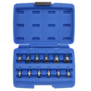 "19PC 1/2"" DR. AIR IMPACT OCTA-METRIC SOCKET SET MULTI-FIT"