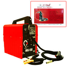 90 Amp 120v Wire Feed Portable Mig Welder Non Gas Welding Set- C