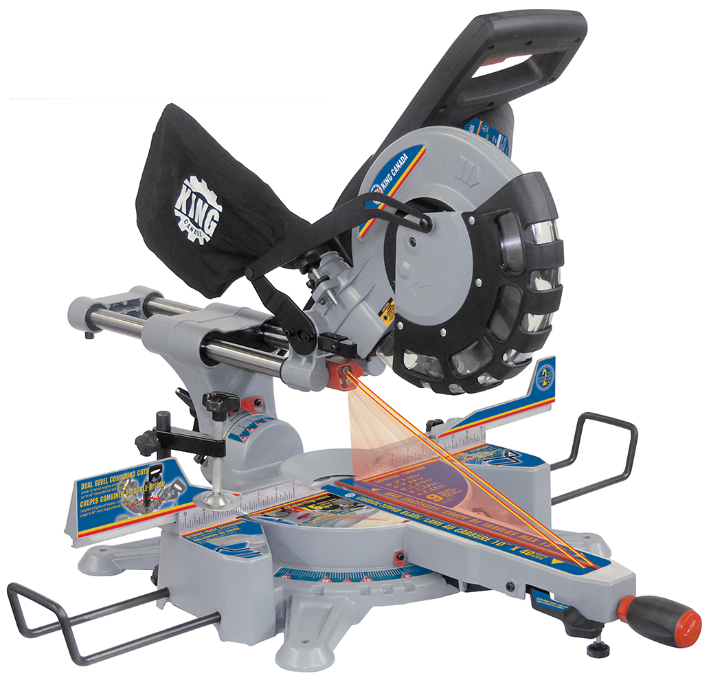 "10"" Dual Bevel Sliding Compound Miter Saw With Twin Laser"